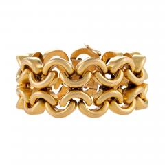 French Mid 20th Century Gold Link Bracelet - 1035528