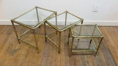 French Mid Century Brass Nesting Tables - 1854517