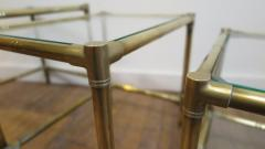French Mid Century Brass Nesting Tables - 1854518