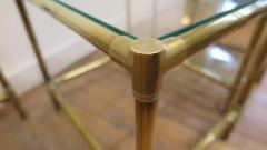 French Mid Century Brass Nesting Tables - 1854520
