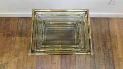 French Mid Century Brass Nesting Tables - 1854527