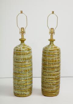 French Mid Century Drip Glaze Ceramic Lamps - 1241190