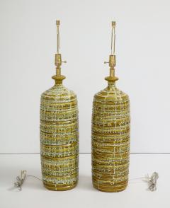 French Mid Century Drip Glaze Ceramic Lamps - 1241191