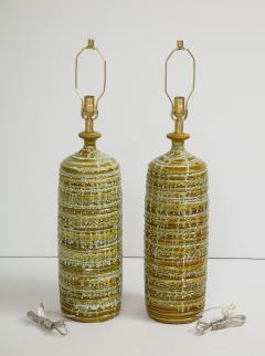 French Mid Century Drip Glaze Ceramic Lamps - 1241192