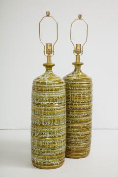 French Mid Century Drip Glaze Ceramic Lamps - 1241193