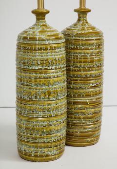 French Mid Century Drip Glaze Ceramic Lamps - 1241194