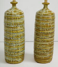 French Mid Century Drip Glaze Ceramic Lamps - 1241195