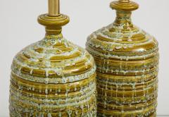 French Mid Century Drip Glaze Ceramic Lamps - 1241196