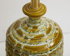 French Mid Century Drip Glaze Ceramic Lamps - 1241197