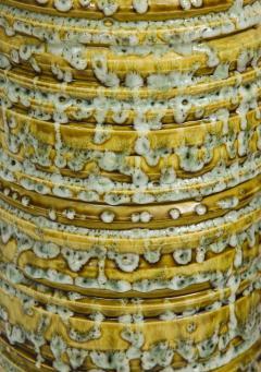 French Mid Century Drip Glaze Ceramic Lamps - 1241198