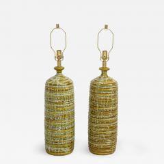 French Mid Century Drip Glaze Ceramic Lamps - 1243878