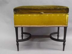 French Mid Century Modern Neoclassical Louis XVI Piano Bench - 1844442