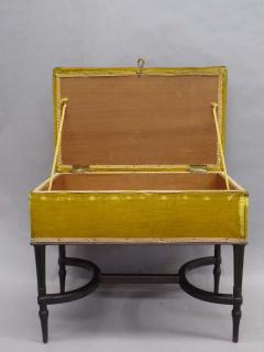 French Mid Century Modern Neoclassical Louis XVI Piano Bench - 1844445
