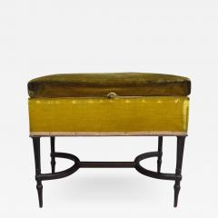 French Mid Century Modern Neoclassical Louis XVI Piano Bench - 1845818