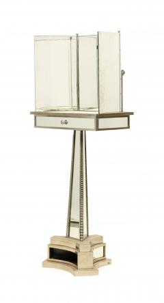 French Mid Century Triptych Chrome Shaving Dressing Mirror - 1378386