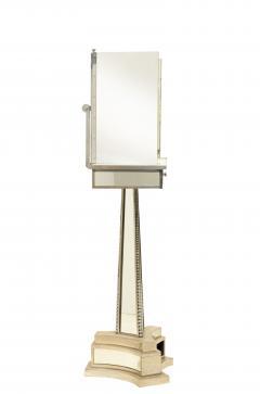 French Mid Century Triptych Chrome Shaving Dressing Mirror - 1378387
