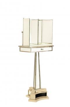 French Mid Century Triptych Chrome Shaving Dressing Mirror - 1378388