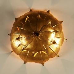 French Mid century gold leaf wall light - 1964463