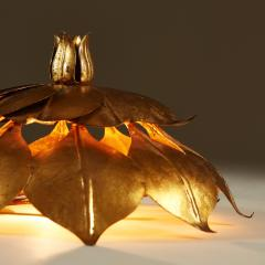 French Mid century gold leaf wall light - 1964486