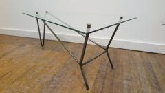 French Midcentury Glass Cocktail Table in the Style of Mathieu Mategot - 1170557