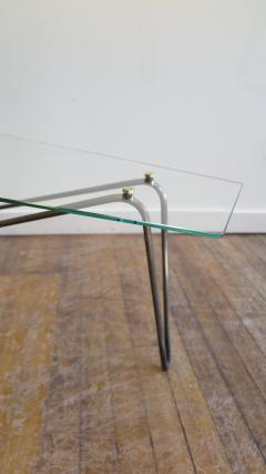 French Midcentury Glass Cocktail Table in the Style of Mathieu Mategot - 1170558