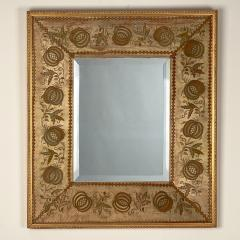 French Mirror with an 18th Century Fabric Border - 1629568