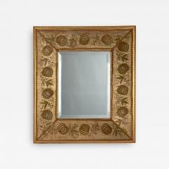 French Mirror with an 18th Century Fabric Border - 1635928