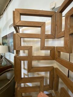 French Modern Cerused Oak 4 Panel Folding Screen Divider - 1880035
