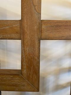 French Modern Cerused Oak 4 Panel Folding Screen Divider - 1880038