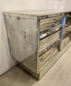 French Modern Mercury Glass Mirrored 9 Drawer Chest 1940s - 2074274