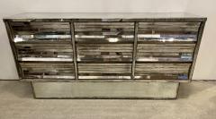French Modern Mercury Glass Mirrored 9 Drawer Chest 1940s - 2074275