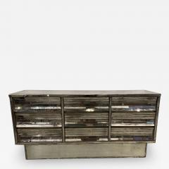 French Modern Mercury Glass Mirrored 9 Drawer Chest 1940s - 2075803