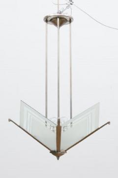 French Modernist Art Deco Pendant Light c 1930 - 1744454