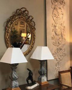 French Napoleon III Giltwood and Composite Oval Mirror with Ribbon Crest - 1896244