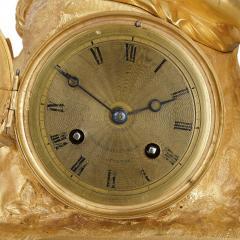 French Neoclassical malachite and gilt bronze mantel clock - 1913722
