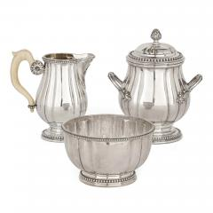 French Neoclassical style seven piece coffee and tea set - 1641601