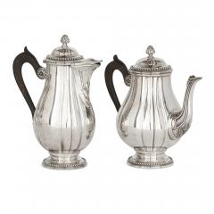 French Neoclassical style seven piece coffee and tea set - 1641603