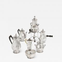 French Neoclassical style seven piece coffee and tea set - 1645440