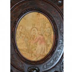 French Oak Over Mantel Mirror Renaissance Revival 19th C  - 150462
