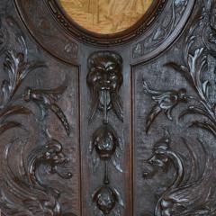 French Oak Over Mantel Mirror Renaissance Revival 19th C  - 150463