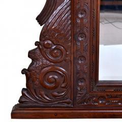 French Oak Over Mantel Mirror Renaissance Revival 19th C  - 150464