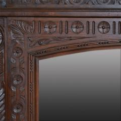 French Oak Over Mantel Mirror Renaissance Revival 19th C  - 150465