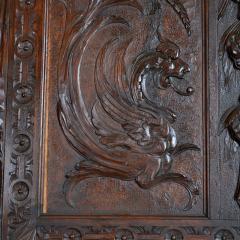 French Oak Over Mantel Mirror Renaissance Revival 19th C  - 150466