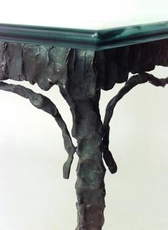 French Post War Design Verdigris Patinated Bronze Rectangular Dining Table - 443123