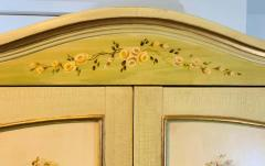 French Provincial Hand painted Armoire or Cabinet - 1726748