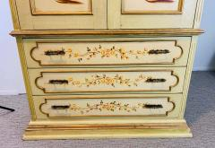 French Provincial Hand painted Armoire or Cabinet - 1726755