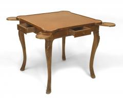 French Provincial Louis XV Style Walnut Game Table - 1429838