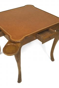French Provincial Louis XV Style Walnut Game Table - 1429839