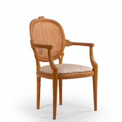 French Provincial Wooden Arm Chair - 1402537
