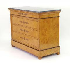 French Restauration Burr Ash Chest of Drawers c 1825 - 755566